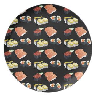 Prato Teste padrão do sushi