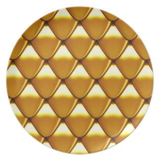Prato Teste padrão elegante da escala do ouro