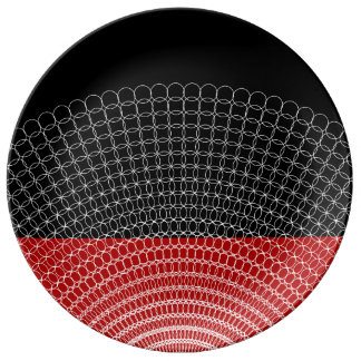 Prato Teste padrão geométrico do planeta vermelho