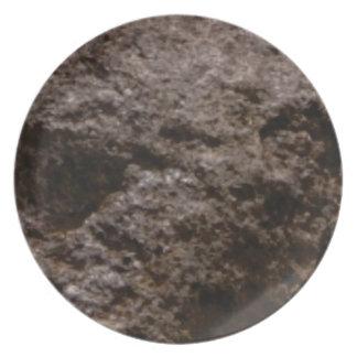 Prato textura pitted da rocha