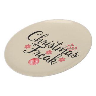 Prato Tipografia do anormal do Natal