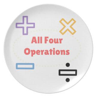 Prato Todas as quatro operações