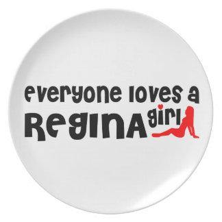 Prato Todos ama uma menina de Regina