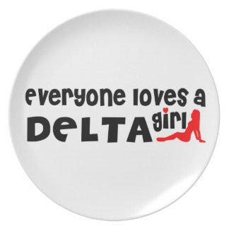 Prato Todos ama uma menina do delta