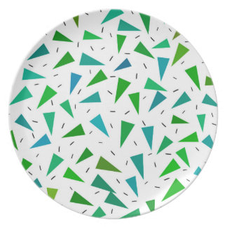 Prato Triângulo geométrico, teste padrão moderno