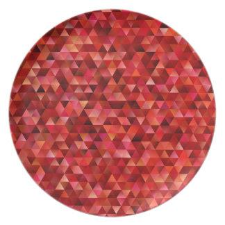 Prato Triângulos sangrentos