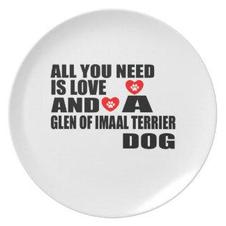 Prato Tudo você precisa o VALE do amor de cães Desig de