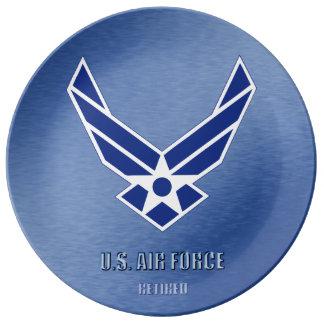 Prato U.S. Placa aposentada força aérea da porcelana