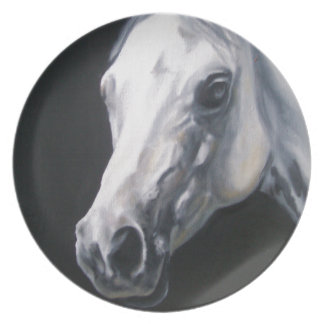 Prato Um cavalo branco