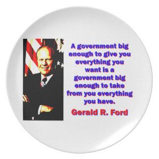Prato Um governo - Gerald Ford grande bastante