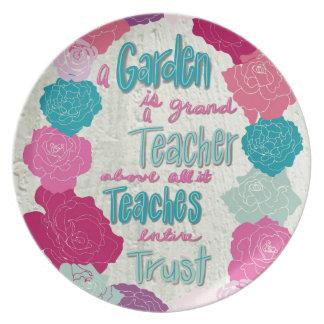 Prato Um jardim é um professor