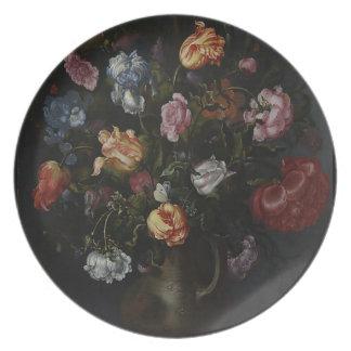 Prato Um vaso com flores