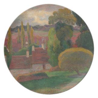 Prato Uma fazenda em Brittany - Paul Gauguin
