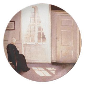 Prato Uma leitura da mulher por uma janela