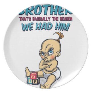 Prato Vai o jogo com seu irmão - parentalidade perfeita
