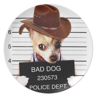 Prato vaqueiro da chihuahua - cão do xerife