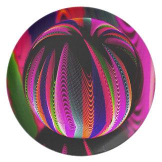 Prato Variação das cores no vidro