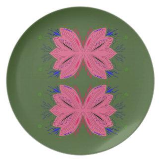 Prato Verde do rosa dos elementos do design