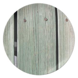 Prato Verde e passagem de madeira da prancha de Brown