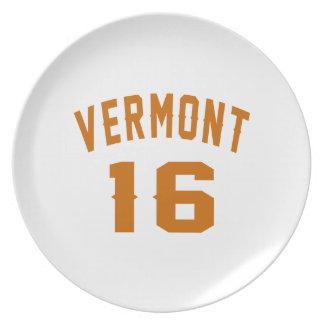 Prato Vermont 16 designs do aniversário