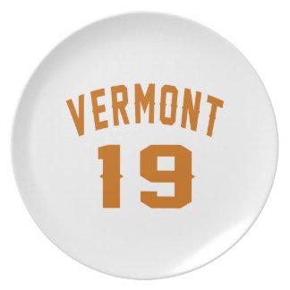 Prato Vermont 19 designs do aniversário