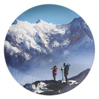 Prato Vista panorâmica da montanha máxima de Ama Dablam