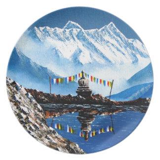 Prato Vista panorâmica da montanha Nepal de Annapurna