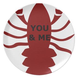 Prato Você & eu são lagostas