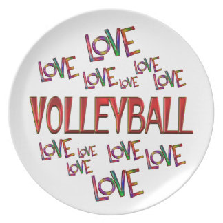 Prato Voleibol do amor do amor