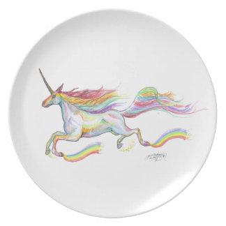 Prato Voo do pônei do cavalo de Pegasus do unicórnio do