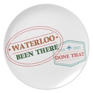 Prato Waterloo feito lá isso