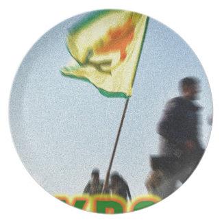 Prato YPG - Lutadores curdos da liberdade de Kobani v2