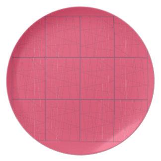 Prato Ziguezague cor-de-rosa dos elementos do design