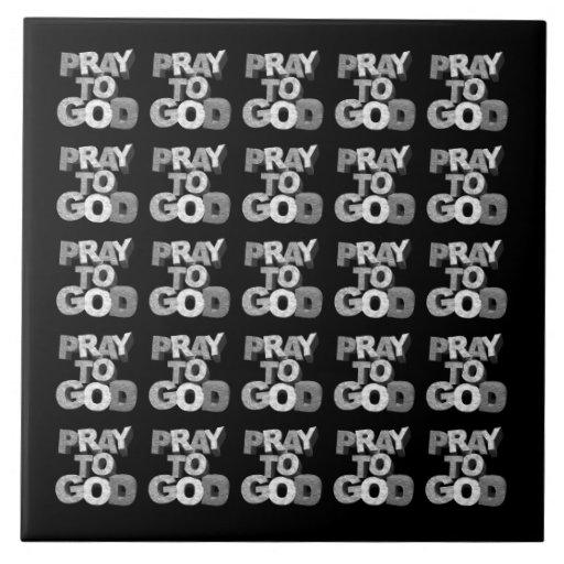 Pray ao deus azulejo