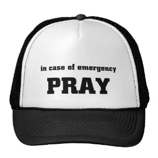 Pray em caso de urgência boné