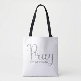 Pray o bolsa de prata do brilho e das cinzas