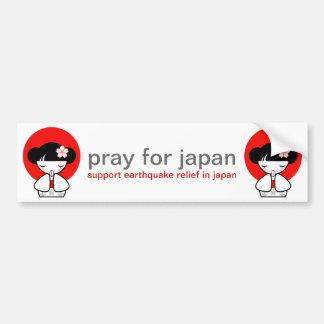 Pray para a boneca de Japão Kokeshi Adesivo Para Carro