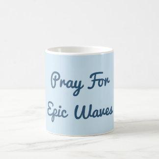 Pray para a caneca épico das ondas