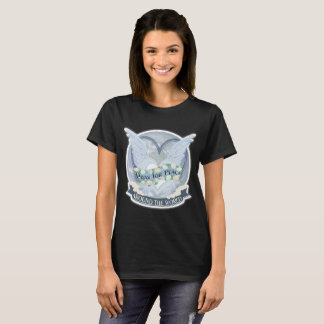 Pray para a paz em todo o mundo camiseta