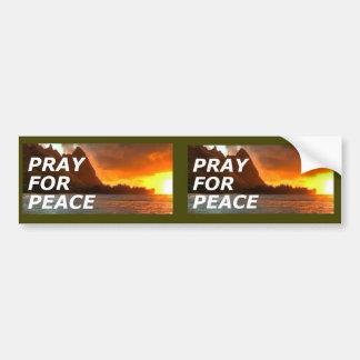 Pray para a paz na península da Coreia - 2 para 1 Adesivo Para Carro