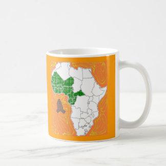 Pray para África ocidental Caneca De Café