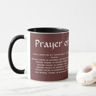 PRAYER* da caneca de café de FRANCIS de SANTO