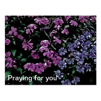 Praying para você o cartão floral