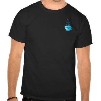 Prazer azul do Cappuccino T-shirts