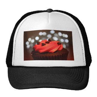 Prazer vermelho do cupcake boné