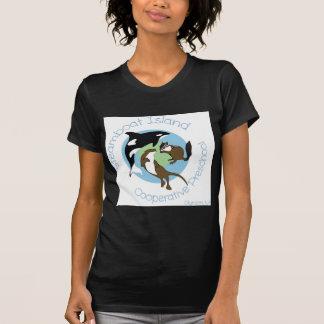 Pré-escolar da capoeira da ilha do barco a vapor camiseta