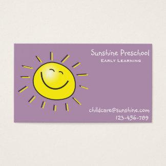 Pré-escolar da luz do sol que aprende cedo o cartão de visitas