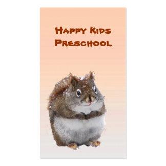 Pré-escolar doce do esquilo cartão de visita