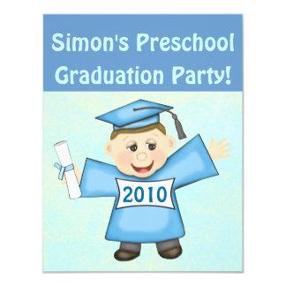 Pré-escolar dos meninos/festa de formatura do convites personalizado