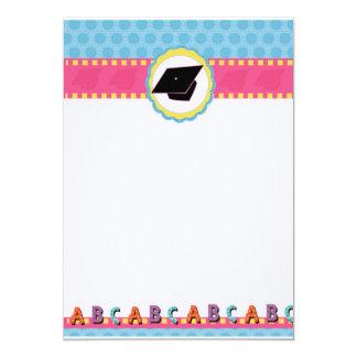 Pré-escolar lunático dos pontos/graduação do convite 12.7 x 17.78cm